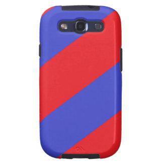 Rayas rojas y azules samsung galaxy s3 fundas