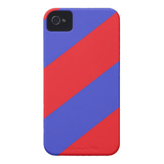 Rayas rojas y azules iPhone 4 carcasa