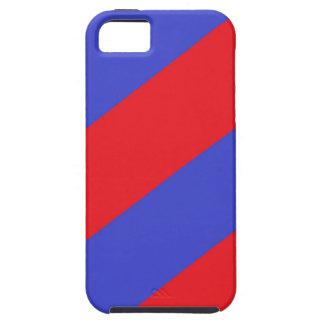 Rayas rojas y azules iPhone 5 cárcasa