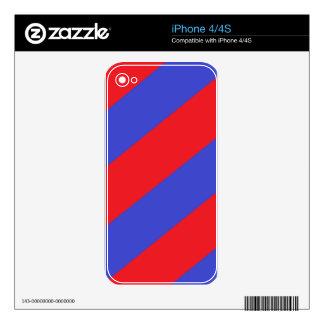 Rayas rojas y azules skin para el iPhone 4