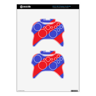 Rayas rojas y azules mando xbox 360 skins