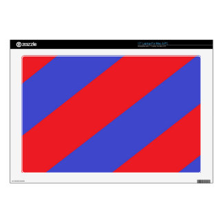 Rayas rojas y azules skins para portátiles