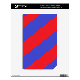Rayas rojas y azules skins para NOOK color