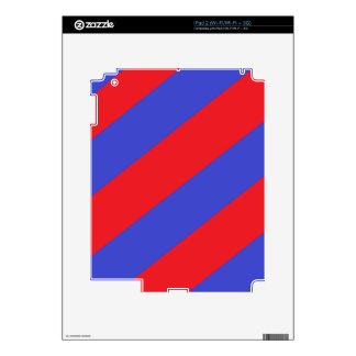 Rayas rojas y azules skins para eliPad 2