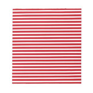 Rayas rojas y blancas bloc