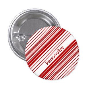 Rayas rojas y blancas del caramelo de hierbabuena  pin
