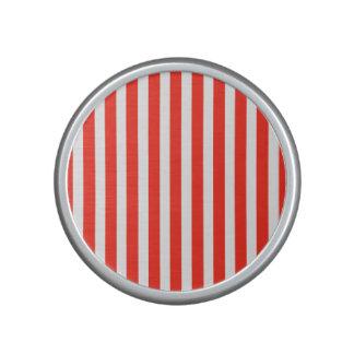 Rayas rojas y blancas del circo de la cabaña altavoz