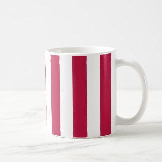 Rayas rojas y blancas taza de café