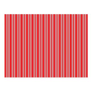 Rayas rojas y de plata del navidad postal
