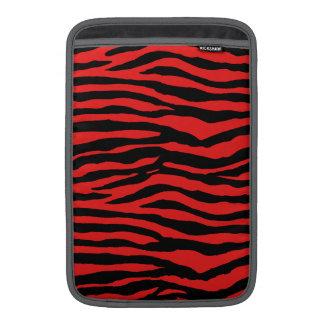 Rayas rojas y negras de la cebra funda macbook air