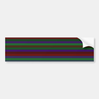 Rayas rojas y púrpuras verdes pegatina para auto