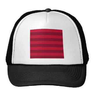 Rayas - rojas y rojo oscuro gorro de camionero