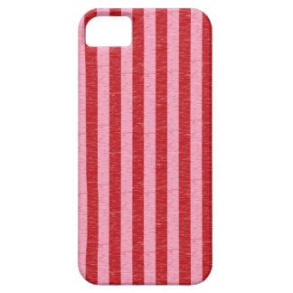 Rayas rojas y rosadas iPhone 5 carcasas