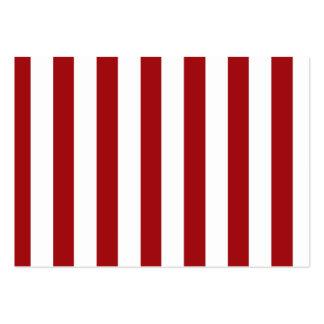 Rayas rojo oscuro (añada el 2do color) tarjeta de negocio