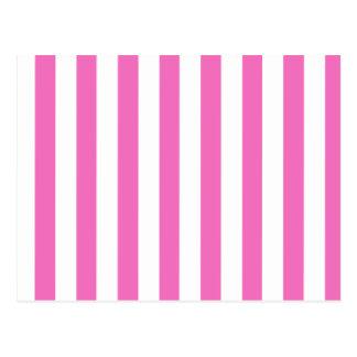 Rayas rosadas (añada el 2do color) postal