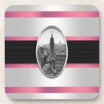 Rayas rosadas blancas del Empire State Building Posavaso