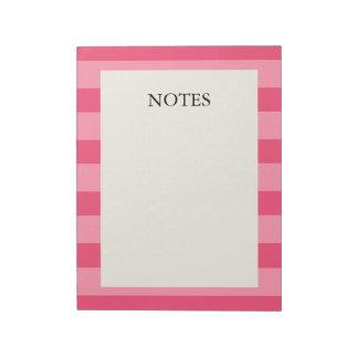 Rayas rosadas bloc de notas