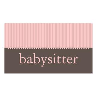 Rayas rosadas bonitas que cuid losan nin¢os la ta tarjeta de negocio