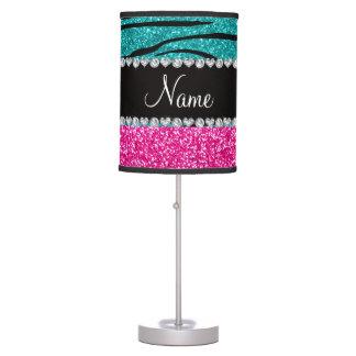Rayas rosadas conocidas de encargo de la cebra de  lámpara de escritorio