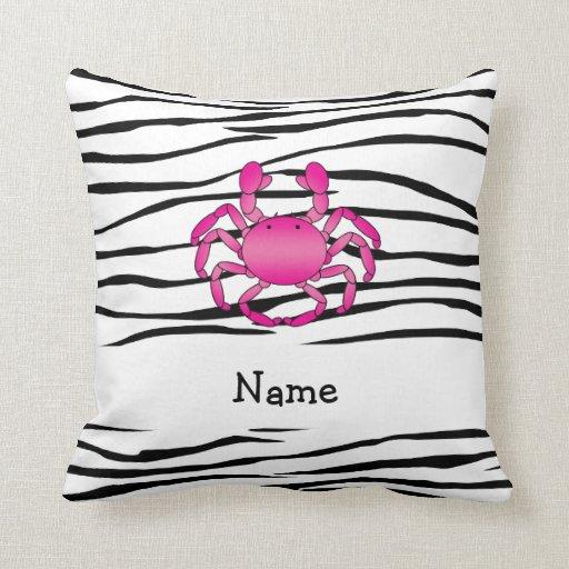 Rayas rosadas conocidas personalizadas de la cebra cojines