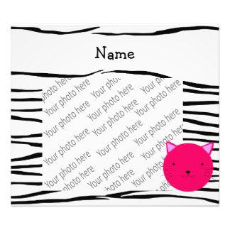 Rayas rosadas conocidas personalizadas de la cebra impresiones fotográficas