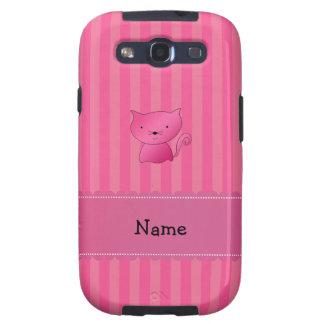 Rayas rosadas conocidas personalizadas del rosa samsung galaxy s3 carcasa