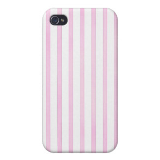 Rayas rosadas de la acuarela del fondo iPhone 4/4S carcasas
