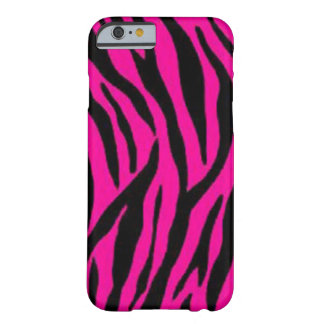 """Rayas rosadas de la cebra "" Funda De iPhone 6 Barely There"