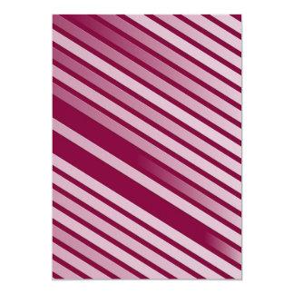 """Rayas rosadas de la hierbabuena invitación 5"""" x 7"""""""