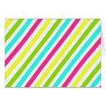 Rayas rosadas de neón enrrolladas del amarillo del tarjeta