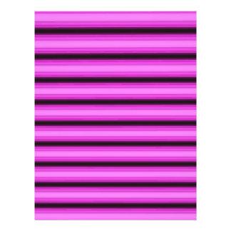 """Rayas rosadas de neón folleto 8.5"""" x 11"""""""