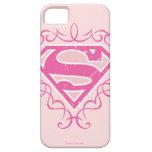 Rayas rosadas de Supergirl iPhone 5 Case-Mate Coberturas