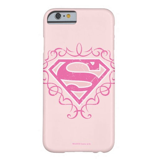 Rayas rosadas de Supergirl Funda Barely There iPhone 6