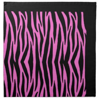 Rayas rosadas del animal salvaje de la cebra servilleta imprimida