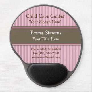 Rayas rosadas del cuidado de niños, cojín de ratón alfombrilla de raton con gel