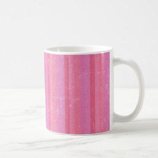 Rayas rosadas del vintage taza de café