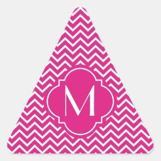 Rayas rosadas del zigzag de Chevron con el Colcomanias Triangulo Personalizadas