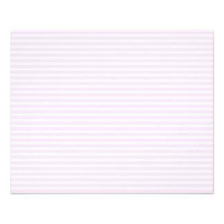 Rayas rosadas flyer personalizado