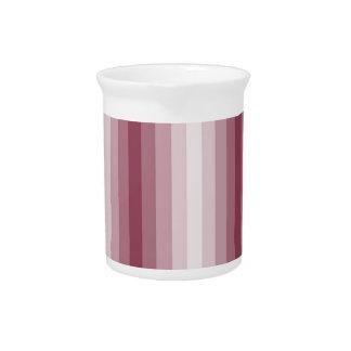 Rayas rosadas jarras de beber