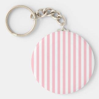 Rayas rosadas llavero redondo tipo pin