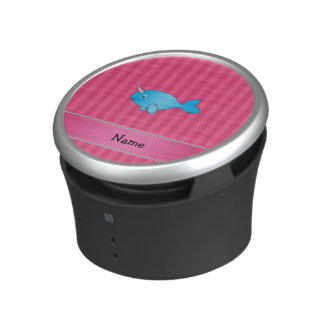 Rayas rosadas narwhal azules conocidas altavoz bluetooth