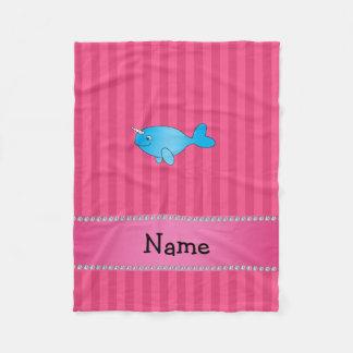 Rayas rosadas narwhal azules conocidas manta polar