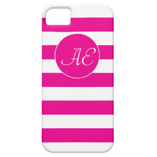 Rayas rosadas Peppy de la cabaña iPhone 5 Case-Mate Cobertura