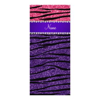 Rayas rosadas púrpuras conocidas de encargo de la plantillas de lonas