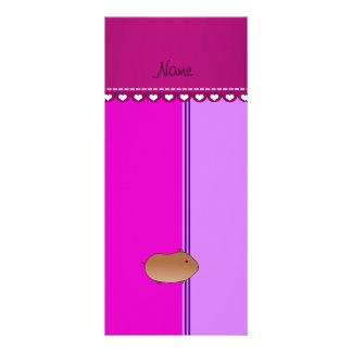 Rayas rosadas púrpuras personalizadas del hámster tarjeta publicitaria personalizada