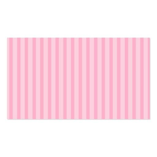 Rayas rosadas tarjetas de visita