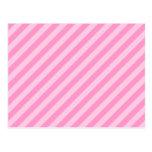 Rayas rosadas tarjetas postales