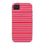 rayas rosadas vibe iPhone 4 funda
