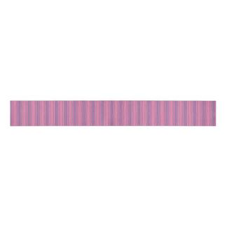 Rayas rosadas y azules lazo de tela gruesa