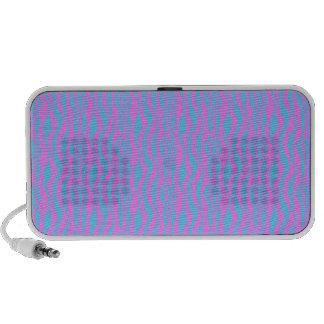 Rayas rosadas y azules de la cebra iPod altavoces